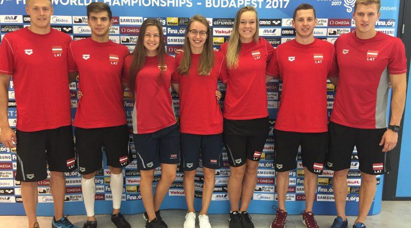 LPF izlases sportisti gatavi startam FINA pasaules čempionātā