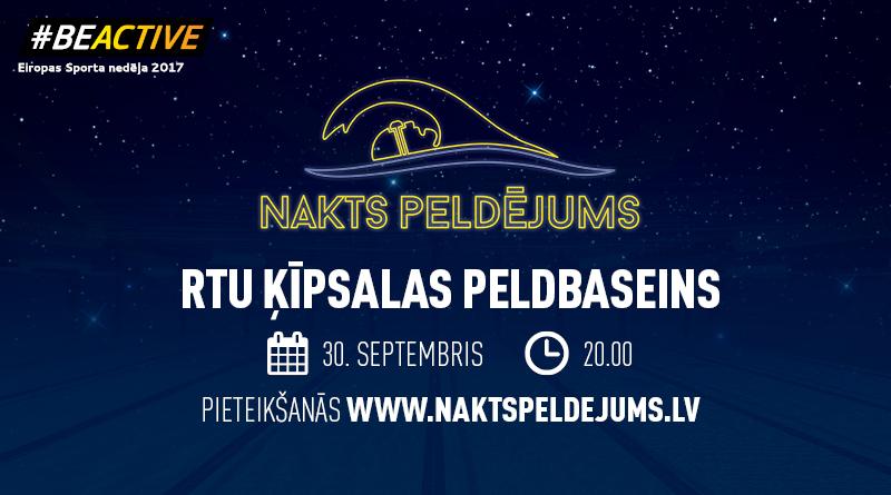 Eiropas Sporta nedēļā LPF aicina uz Nakts Peldējumu